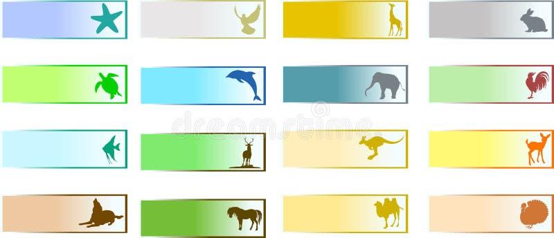 Insegne con l'animale illustrazione vettoriale