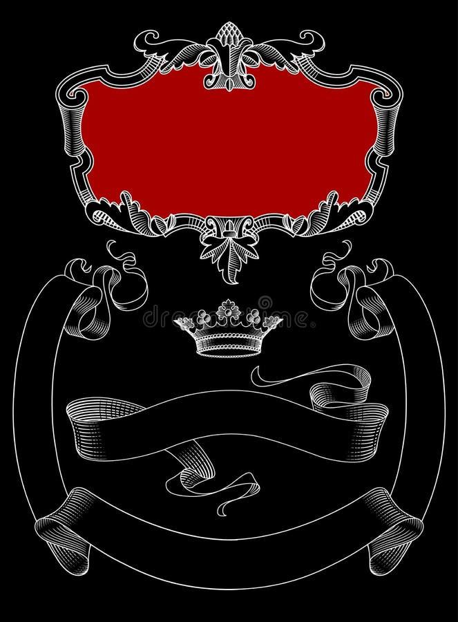 Insegne decorative d'annata royalty illustrazione gratis