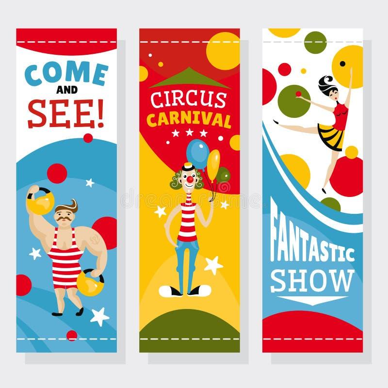 Insegne del circo illustrazione vettoriale