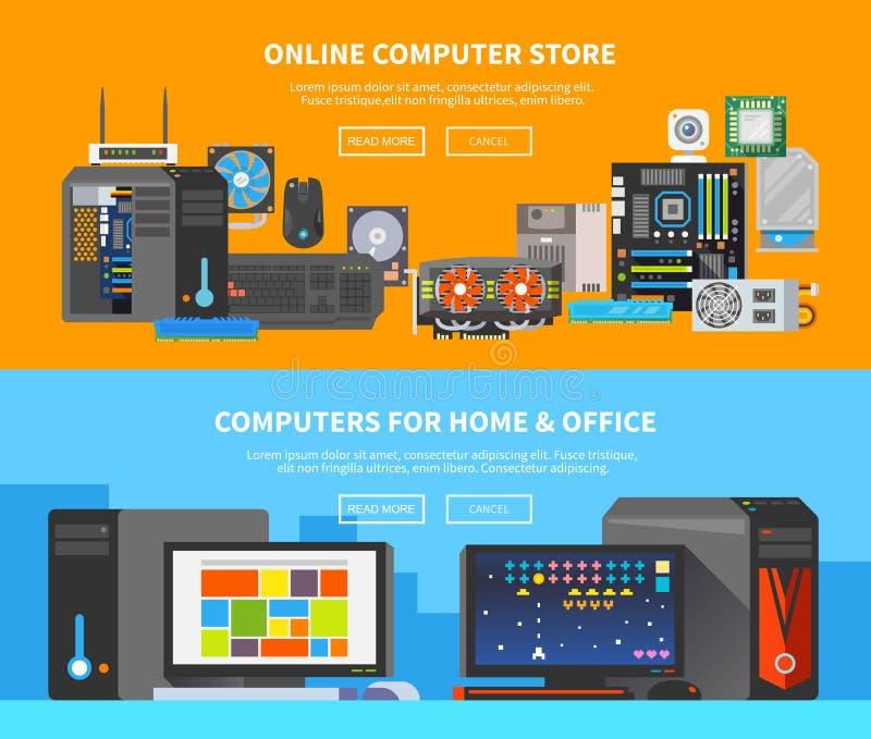 Insegne del computer Progettazione piana 2 immagini stock libere da diritti