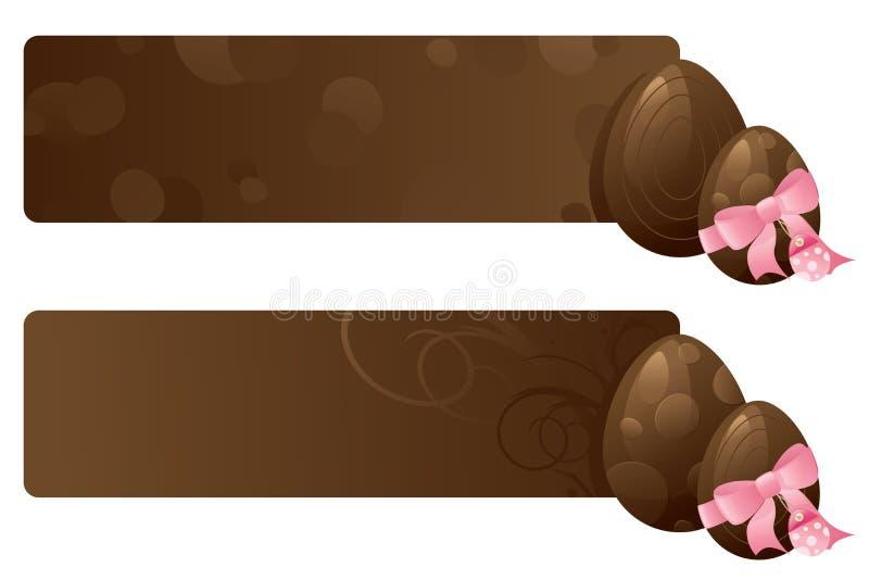 Insegne dell'uovo di cioccolato illustrazione di stock