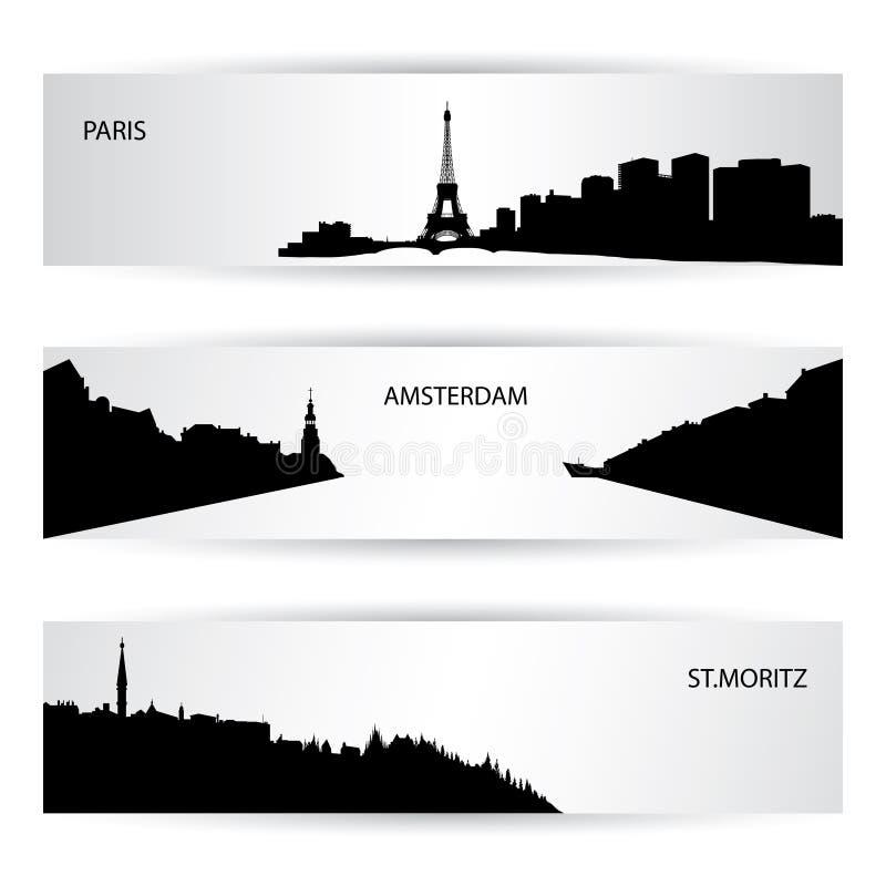 Insegne della città illustrazione vettoriale