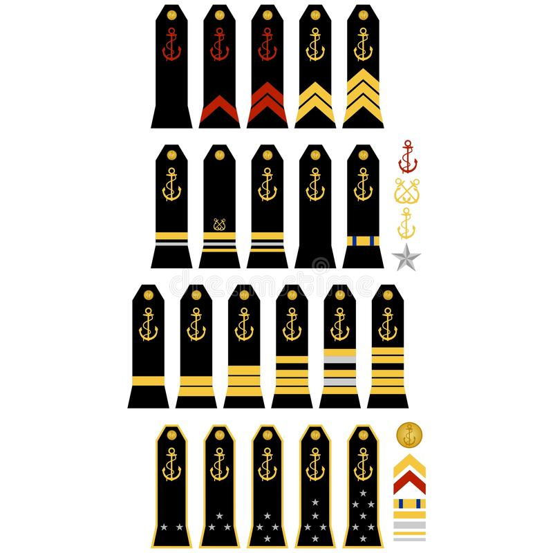 Insegne della marina francese royalty illustrazione gratis