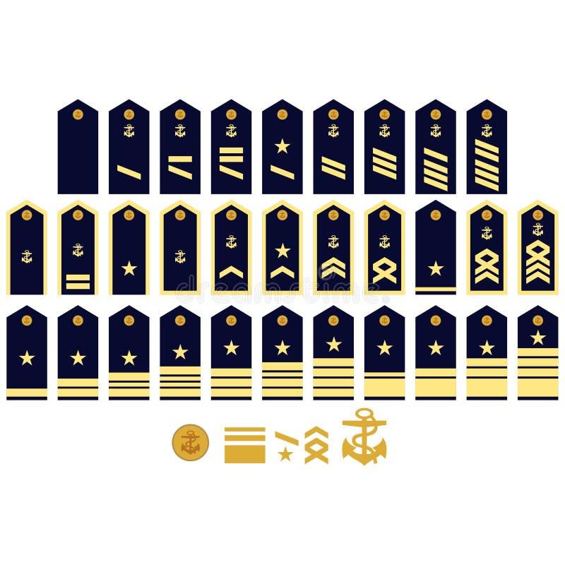 Insegne della marina tedesca illustrazione di stock