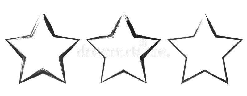 Insegne della stella di lerciume illustrazione di stock