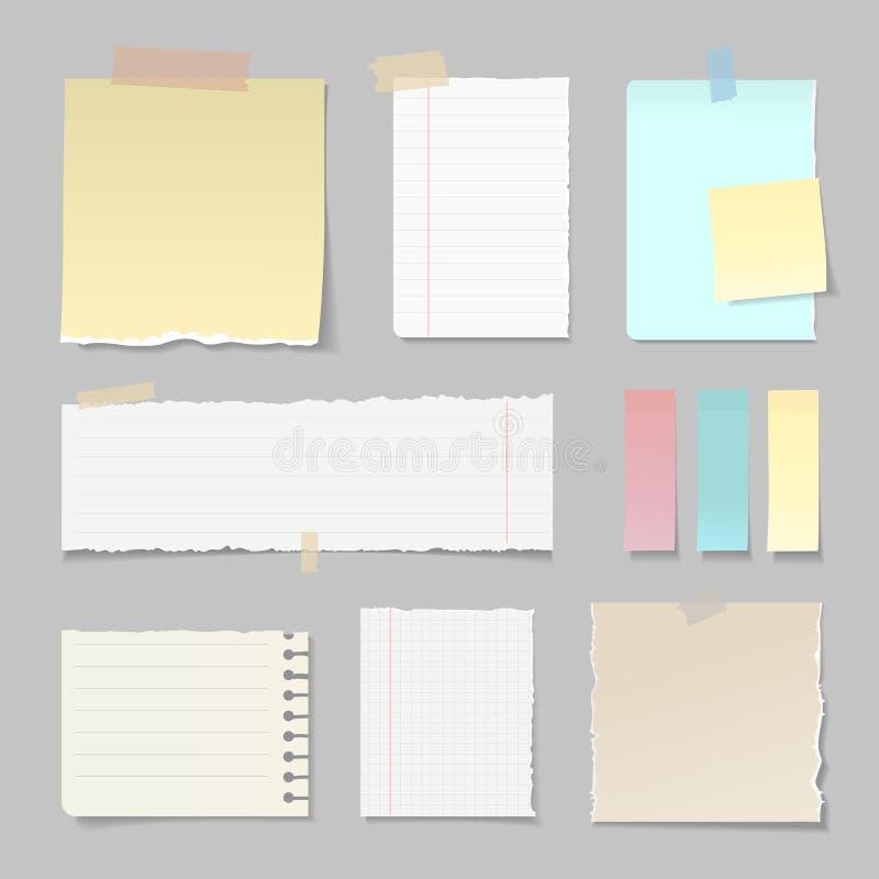 Insegne di carta lacerate allineate e chiaro insieme royalty illustrazione gratis