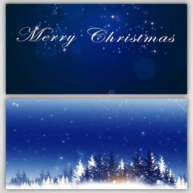 Insegne di festa di Natale di inverno illustrazione vettoriale