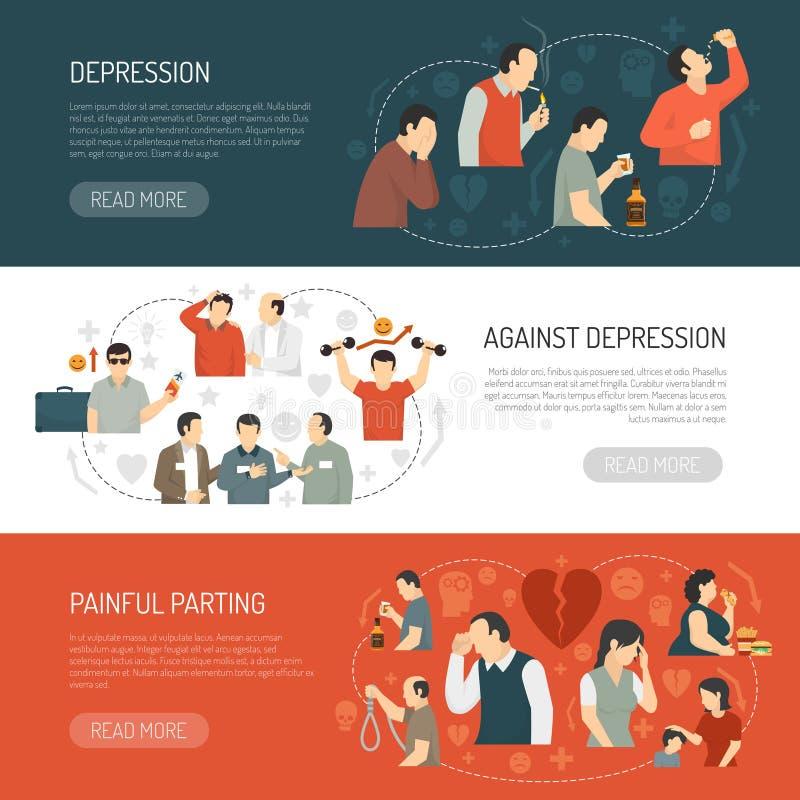 Insegne di orizzontale di depressione royalty illustrazione gratis