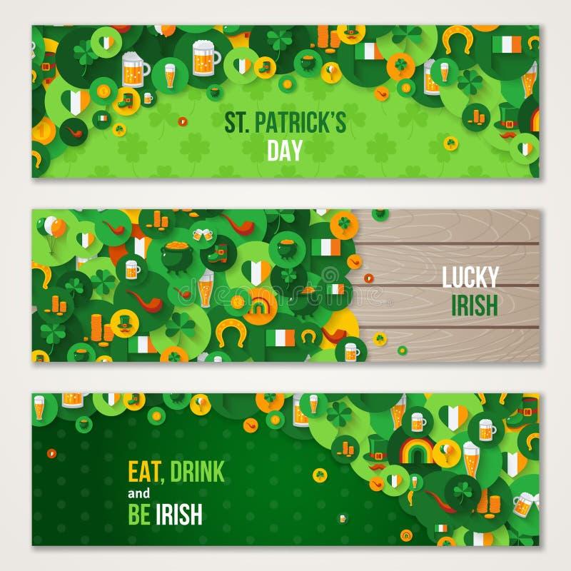 Insegne di orizzontale di giorno del ` s di St Patrick royalty illustrazione gratis
