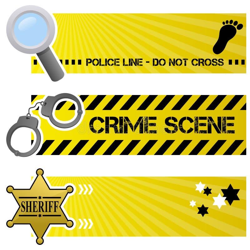 Insegne di orizzontale di ordine & della polizia royalty illustrazione gratis