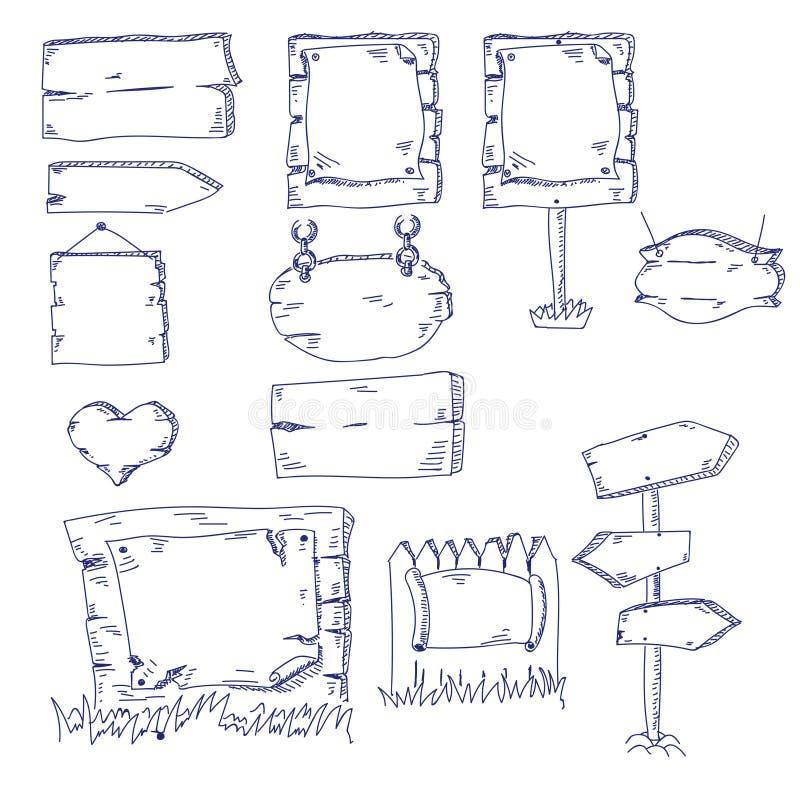 Insegne di tiraggio della mano illustrazione vettoriale