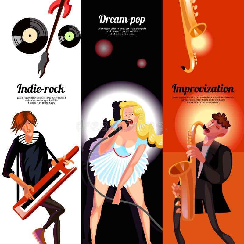 Insegne di verticale di concetto di musica illustrazione vettoriale