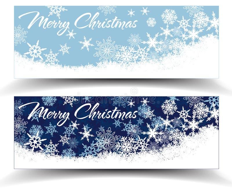 Insegne di web di Natale dei fiocchi di neve illustrazione vettoriale