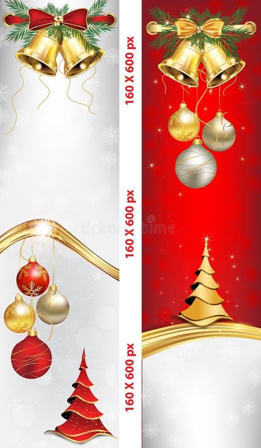 Insegne di web lussuoso del nuovo anno e di Natale royalty illustrazione gratis