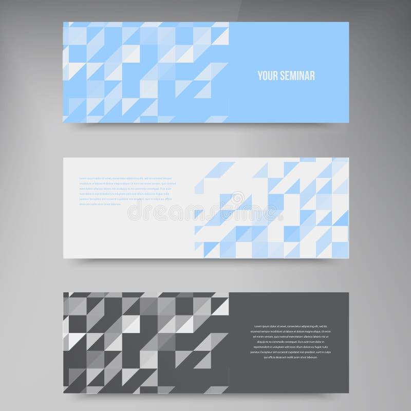 Insegne e quadrati di vettore Mosaico dell'insieme di colore illustrazione vettoriale