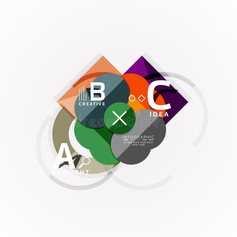 Insegne infographic di opzione geometrica astratta, un processo di punti di b c royalty illustrazione gratis