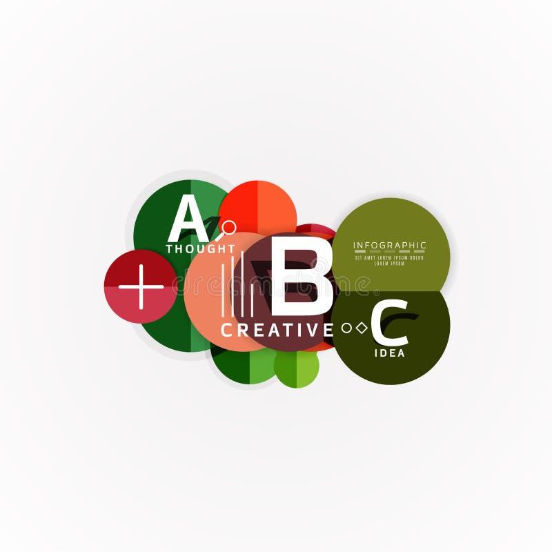 Insegne infographic di opzione geometrica astratta, un processo di punti di b c illustrazione di stock