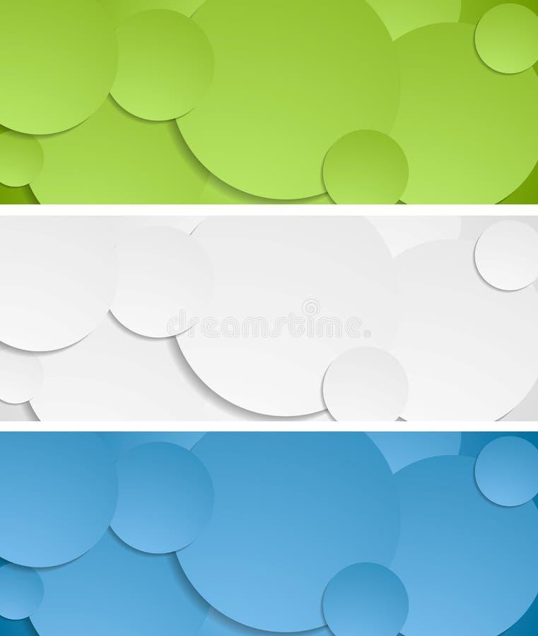 Insegne luminose di vettore dei cerchi illustrazione di stock
