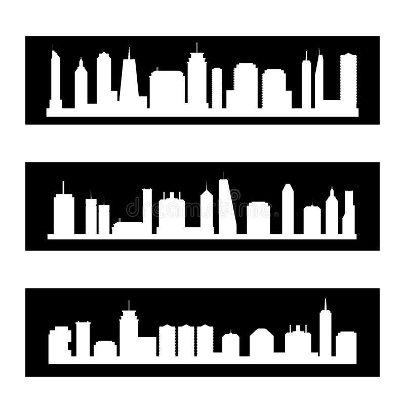 Insegne moderne della città illustrazione vettoriale