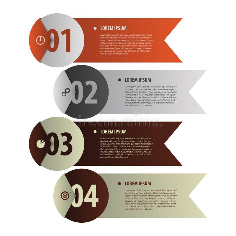 Insegne moderne Stile di origami dell'elemento di Infographics Vettore illustrazione vettoriale
