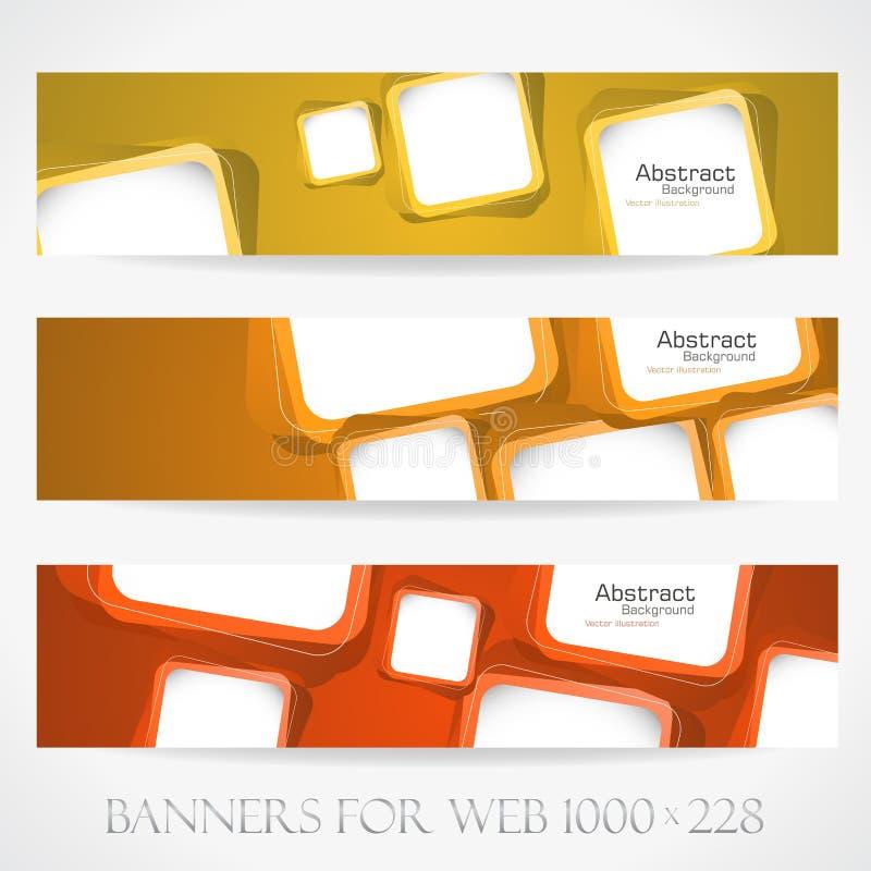 Insegne per il web. (Vettore collection16) illustrazione vettoriale