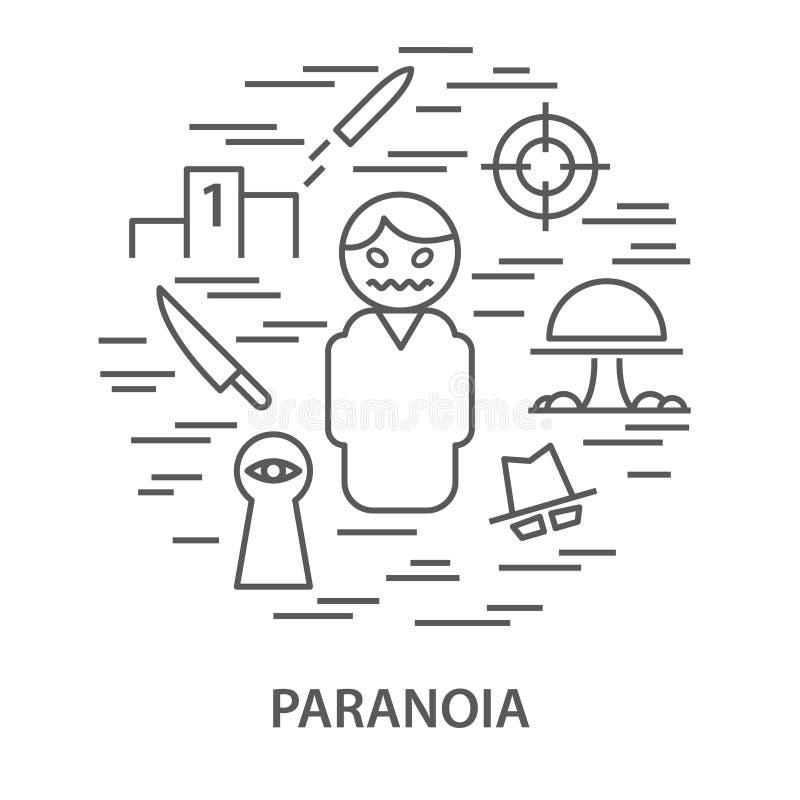 Insegne per paranoia royalty illustrazione gratis