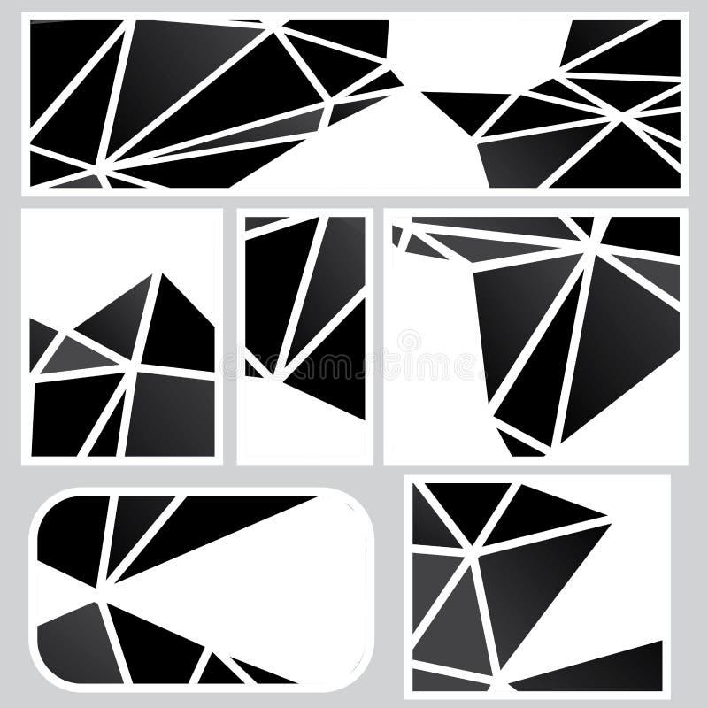 Insegne poligonali scure royalty illustrazione gratis