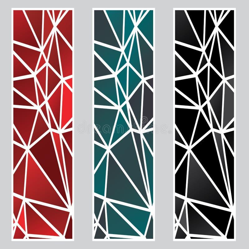 Insegne poligonali scure illustrazione vettoriale