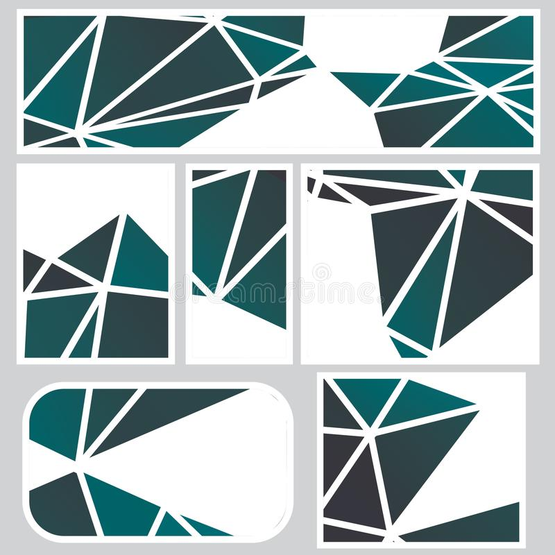 Insegne poligonali scure illustrazione di stock