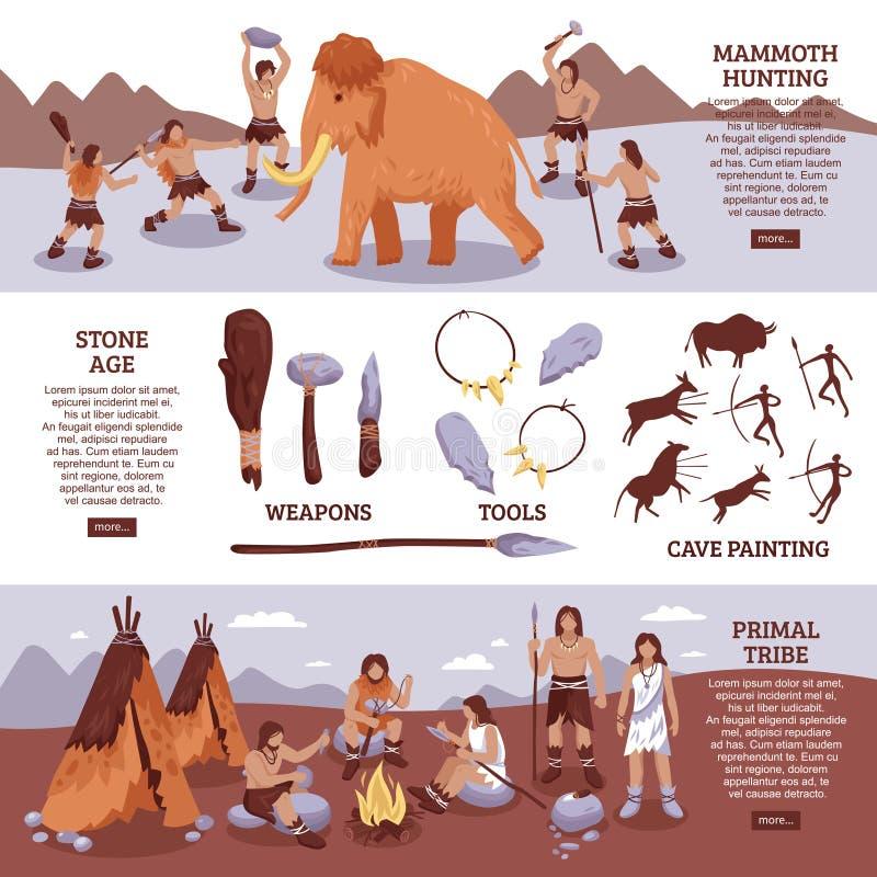 Insegne principali della gente della tribù messe illustrazione di stock