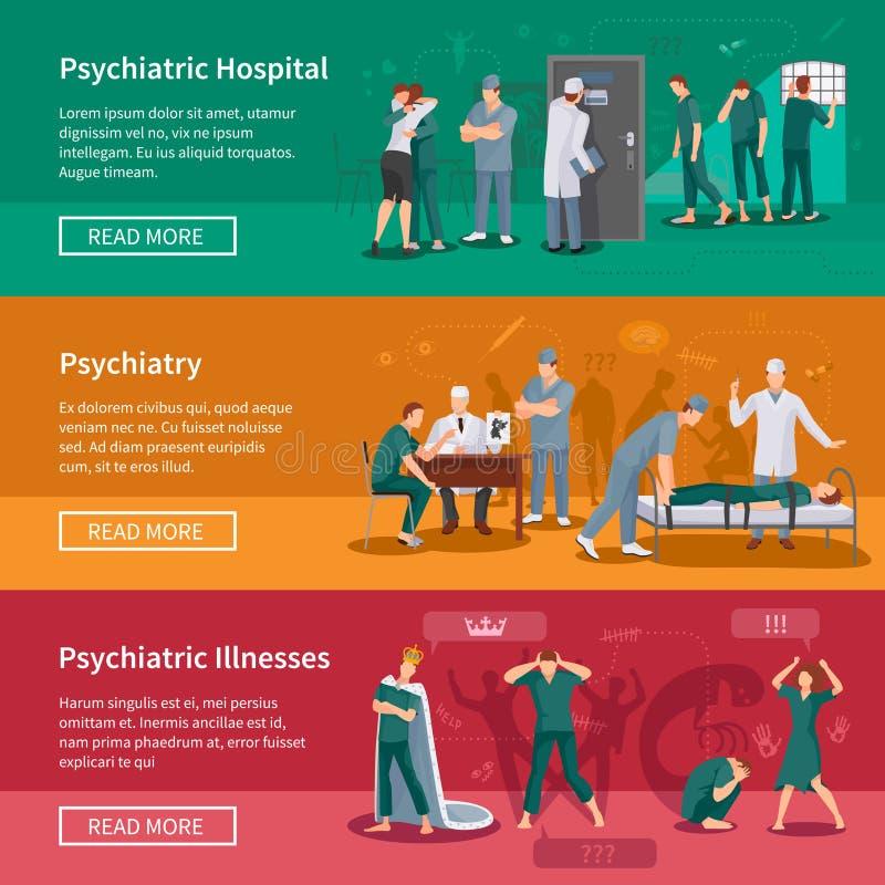 Insegne psichiatriche di malattie messe illustrazione di stock