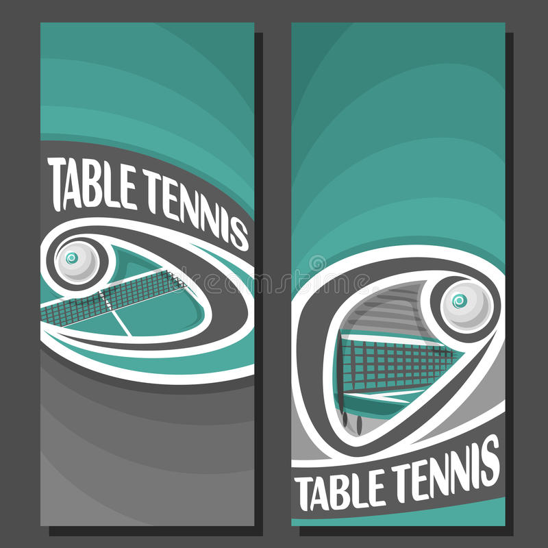 Insegne verticali di vettore per ping-pong illustrazione vettoriale