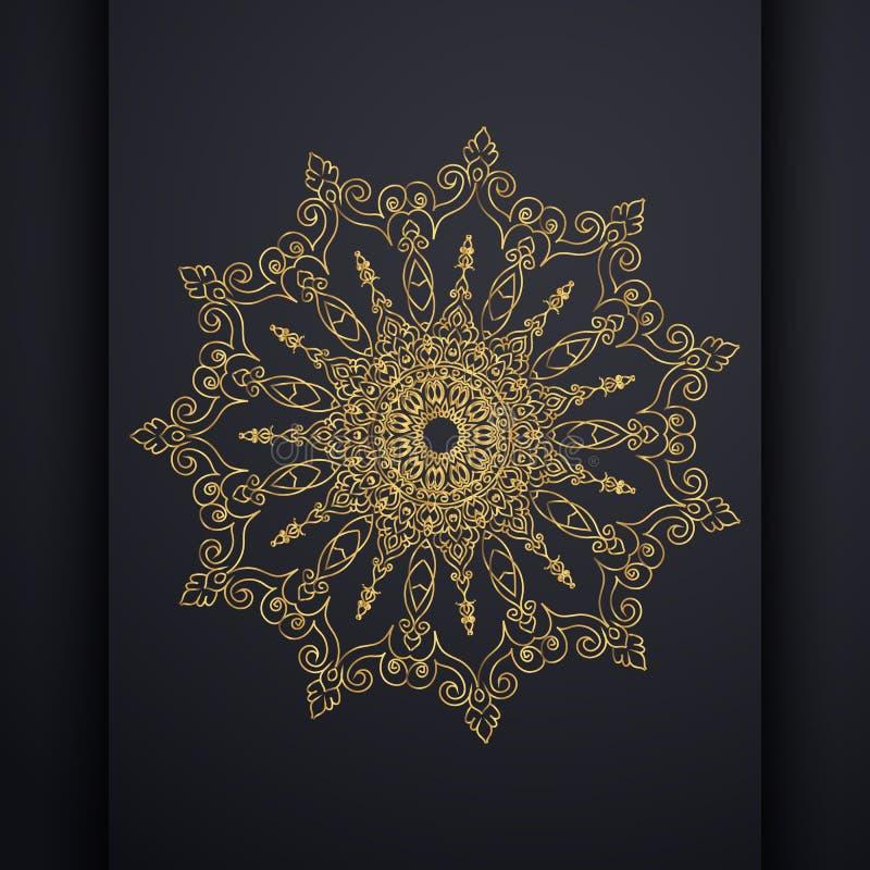 Insegne verticali islamiche con la mandala di arabesque per la cartolina d'auguri, il manifesto ed il buono royalty illustrazione gratis