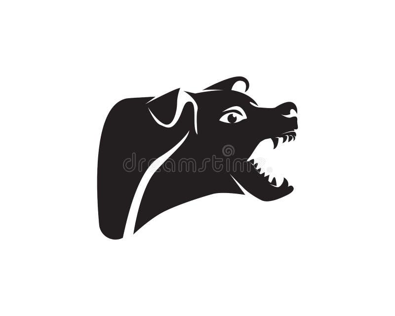 Insegua le icone app del modello del negozio di animali di logo degli animali illustrazione di stock