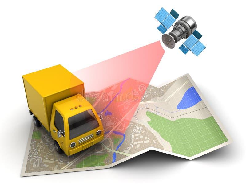 inseguimento del camion illustrazione vettoriale