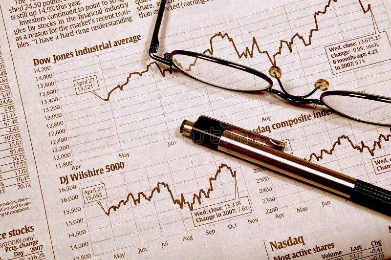 Inseguimento del mercato azionario immagine stock