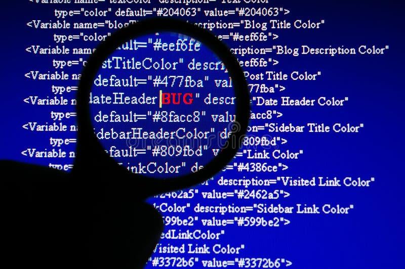 Inseguimento dell'errore di programma immagini stock