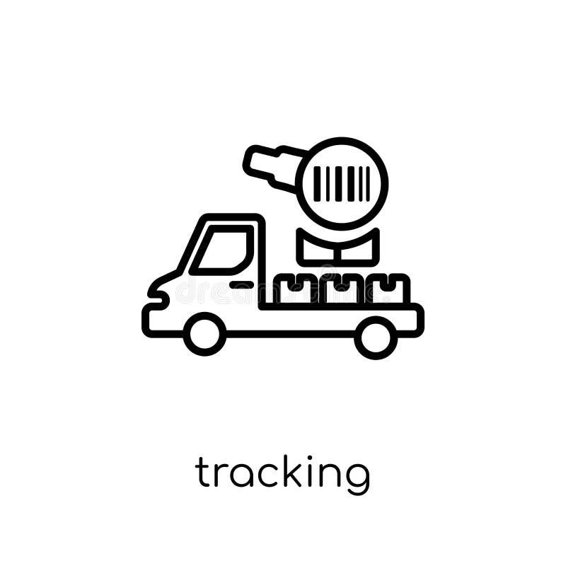 Inseguimento dell'icona dalla consegna e dalla raccolta logistica illustrazione di stock