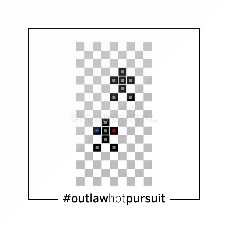 Inseguimento ravvicinato proscritto - vecchio manifesto del gioco del videogioco fotografie stock