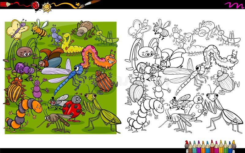 Insektów charakterów kolorystyki książka royalty ilustracja