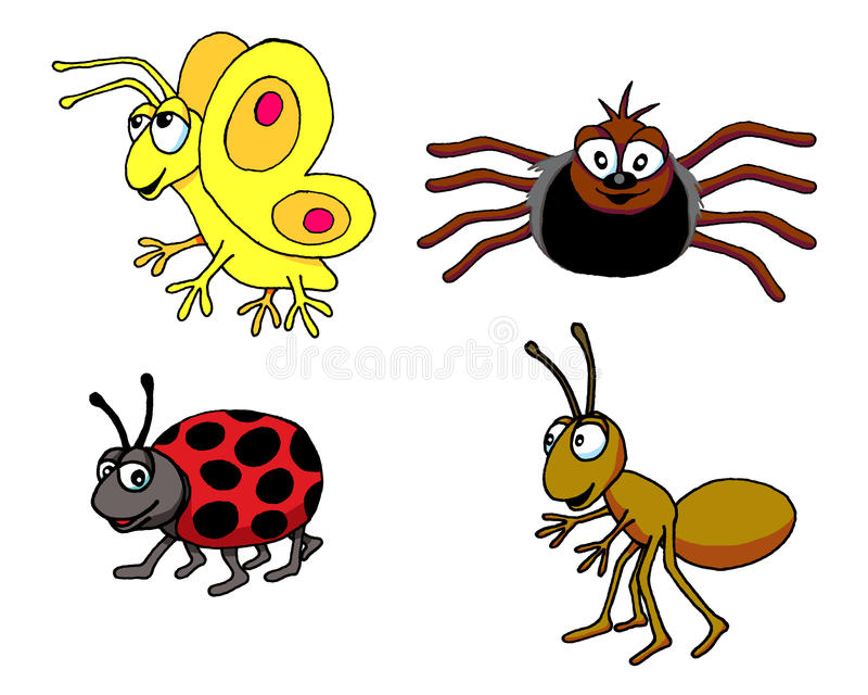 Insekt grupa royalty ilustracja