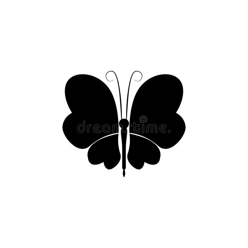 Insekt ikony wektor motylia wektorowej grafiki ilustracja ilustracji