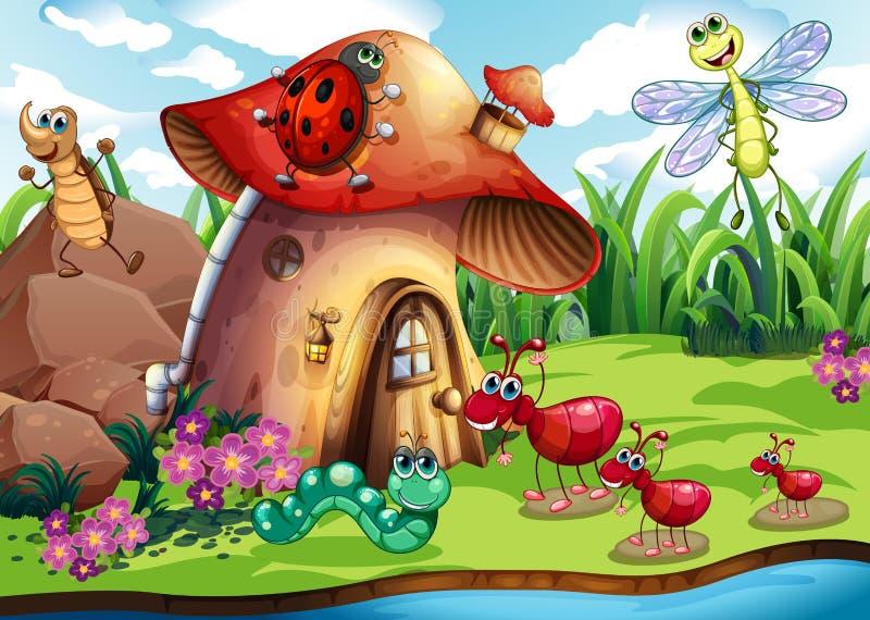 Insekt kolonia royalty ilustracja