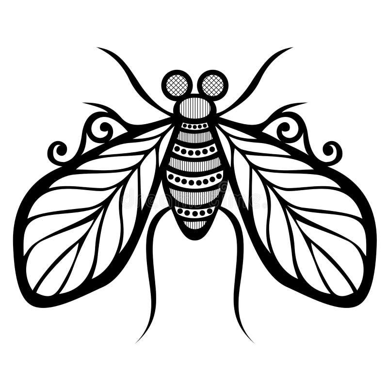 Insekt komarnica ilustracja wektor