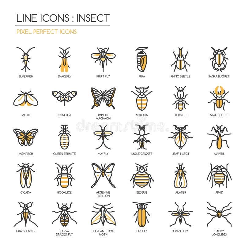 Insekt, perfekte Ikone des Pixels vektor abbildung