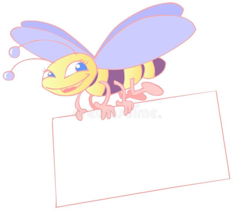 Insekt und Plakat stock abbildung