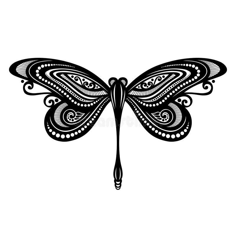 Insekta dragonfly ilustracja wektor