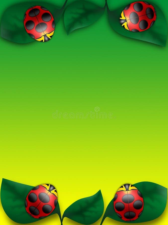 Insekte auf einer Kirsche vektor abbildung