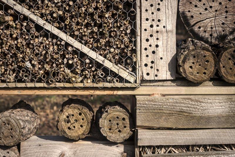 Insektenhotel lizenzfreie stockfotografie