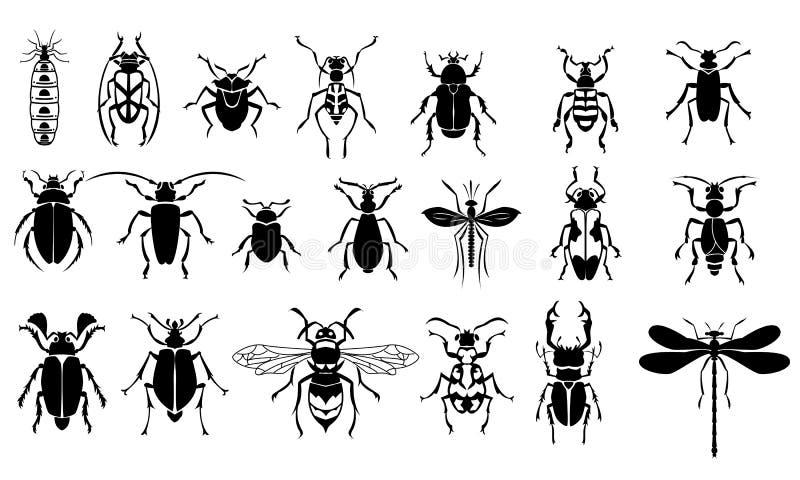 Insektenvektorsatz stockbild